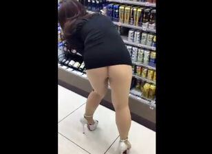 Upskirt no panties compilation