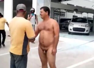 Stripping naked public